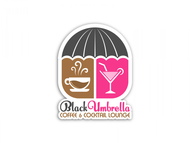 Black umbrella coffee & cocktail lounge Logo - Entry #24
