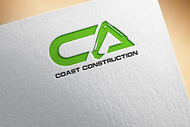 CA Coast Construction Logo - Entry #90