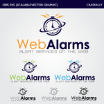 Logo for WebAlarms - Alert services on the web - Entry #5