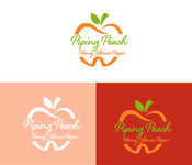 Piping Peach, Honey Lemon Pepper Logo - Entry #22