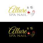 Allure Spa Nails Logo - Entry #168