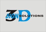 3D Sign Solutions Logo - Entry #96