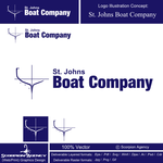 Simple Icon Logo for St. Johns Boat Company - Entry #1