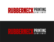 Rubberneck Printing Logo - Entry #34
