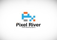 Pixel River Logo - Online Marketing Agency - Entry #97