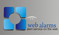 Logo for WebAlarms - Alert services on the web - Entry #118