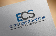 Elite Construction Services or ECS Logo - Entry #176