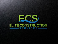 Elite Construction Services or ECS Logo - Entry #242