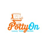Potty On Luxury Toilet Rentals Logo - Entry #19