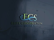 Elite Construction Services or ECS Logo - Entry #351