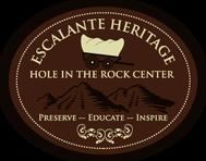 Escalante Heritage/ Hole in the Rock Center Logo - Entry #48
