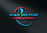 Man on fire welding Logo - Entry #8