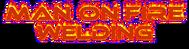 Man on fire welding Logo - Entry #44