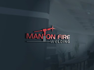 Man on fire welding Logo - Entry #19