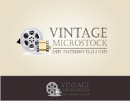 Vintage Microstock Logo - Entry #34