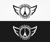 The Flying V Ranch Logo - Entry #6