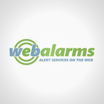 Logo for WebAlarms - Alert services on the web - Entry #132