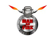 Man on fire welding Logo - Entry #23