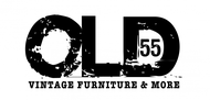 """""""OLD 55"""" - mid-century vintage furniture and wares store Logo - Entry #127"""