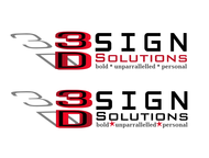 3D Sign Solutions Logo - Entry #201