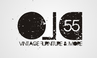 """""""OLD 55"""" - mid-century vintage furniture and wares store Logo - Entry #190"""