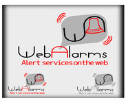 Logo for WebAlarms - Alert services on the web - Entry #200