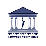 "charity basketball event logo (name with logo is ""lawyers can't jump"") - Entry #33"