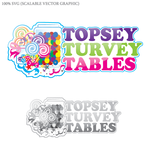 Topsey turvey tables Logo - Entry #3