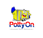 Potty On Luxury Toilet Rentals Logo - Entry #88