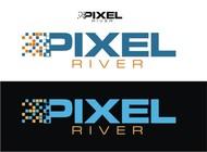 Pixel River Logo - Online Marketing Agency - Entry #186