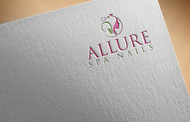 Allure Spa Nails Logo - Entry #139