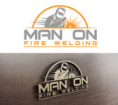 Man on fire welding Logo - Entry #35
