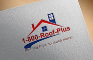 1-800-Roof-Plus Logo - Entry #9