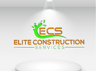Elite Construction Services or ECS Logo - Entry #312