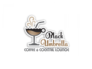 Black umbrella coffee & cocktail lounge Logo - Entry #8