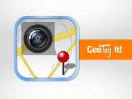 Android/iOS GPS/Photo tagging App Icon Logo - Entry #79