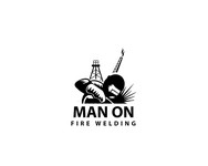 Man on fire welding Logo - Entry #39