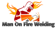 Man on fire welding Logo - Entry #41