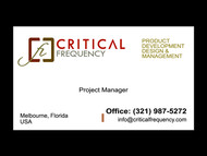 Critical Frequency Logo - Entry #64