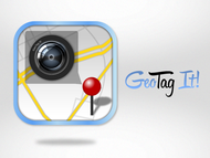 Android/iOS GPS/Photo tagging App Icon Logo - Entry #77
