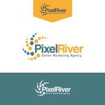 Pixel River Logo - Online Marketing Agency - Entry #167