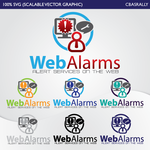 Logo for WebAlarms - Alert services on the web - Entry #27