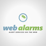 Logo for WebAlarms - Alert services on the web - Entry #136