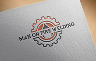 Man on fire welding Logo - Entry #2