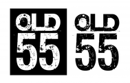 """""""OLD 55"""" - mid-century vintage furniture and wares store Logo - Entry #19"""