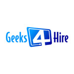 Geeks 4 Hire Logo - Entry #19