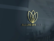 Allure Spa Nails Logo - Entry #32