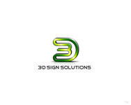 3D Sign Solutions Logo - Entry #143