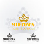 Either Midtown Pawn Boutique or just Pawn Boutique Logo - Entry #95