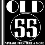 """""""OLD 55"""" - mid-century vintage furniture and wares store Logo - Entry #228"""